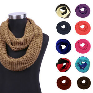 Unisex-Soft-Thick-Knitted-Winter-Warm-Wrap-Circle-Loop-Infinity-Scarves
