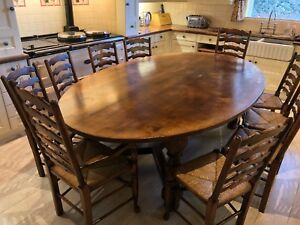 Image Is Loading Chmarsh Amp Goodwin Solid English Oak Oval Dining