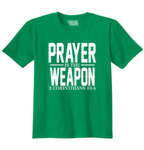 Prayer-Weapon-Christian-T-Shirt-Religious-Gift-Jesus-Christ-T-Shirt