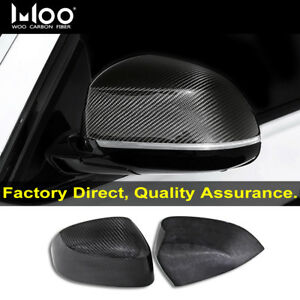 FOR BMW X3 X4 X5 F15 X6 F16 WING MIRROR COVER REAL CARBON FIBRE 2014 UP ADD-ON