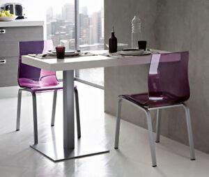 4 sedie leg r vari colori colorate design nuove trasparente cucina soggiorno ebay - Sedie colorate per cucina ...