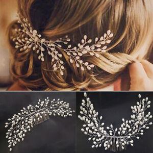 Fashion-Bride-Bridal-Hair-Comb-Wedding-Headwear-Women-Pearl-Hair-Accessories