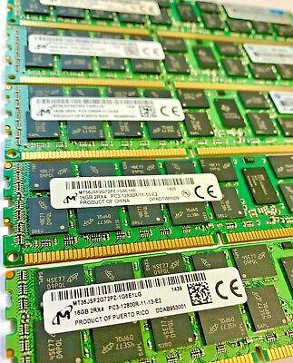 DDR3 PC3-12800R ECC Reg Server Memory RAM Dell Precision T5600 96GB 6x16GB