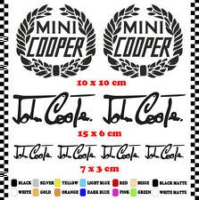 PEGATINA/STICKER/DECAL/AUFKLEBER/VINYL  MINI COOPER LOGO & JOHN COOPER