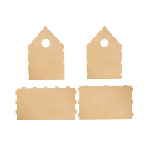 Spielhaus Papphaus Kartonhaus Haus aus Wellpappe Bastelkarton 3-wellige Pappe