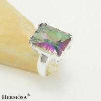 65% Off Gemstone Rainbow Fire Topaz 925 Sterling Silver Ring size 6 7 8 9