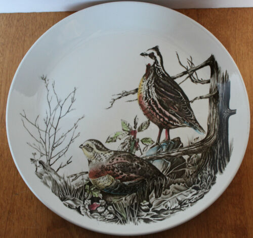 Johnson Brothers Ironstone Dinner Game Birds Plate Quail England
