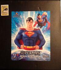 SDCC 2013 DC Superman Resin Bust Bank MINT