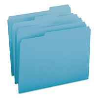 Smead File Folders 1/3 Cut Top Tab Letter Teal 100/box 13143 on sale