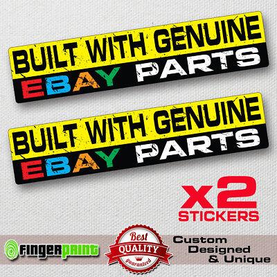 GENUINE STOLEN PARTS sticker decal vinyl funny bumper jdm fast car bike Jeep 4x4