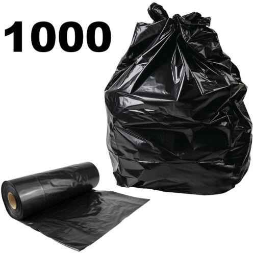 100 200 400 1000 Heavy Duty Black Refuse Sacks Strong Bin Liners Dustbin Bags
