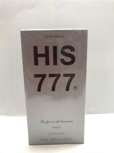 His 777 by Parfums de Laroma 3.3 oz/100 ml Eau de Toilette Spray Men, Sealed!