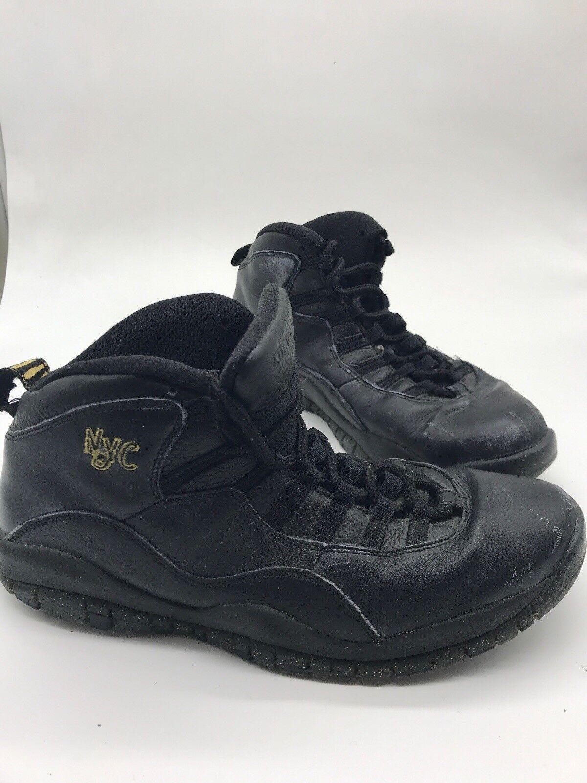 Nike Air Jordan Retro 10 NYC 310805-012 Black Size 10 City Pack DB Steel NYC