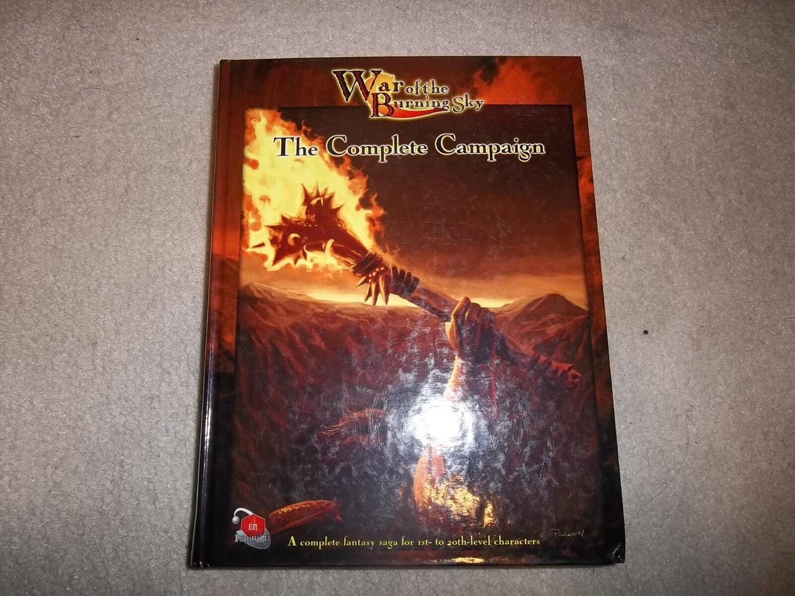D &D D20 En Publishing War of the Burning Sky The Hel Campaign Hardcover
