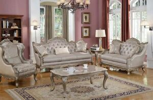 Elegant Traditional Antique Style SofaLoveSeat Formal Living