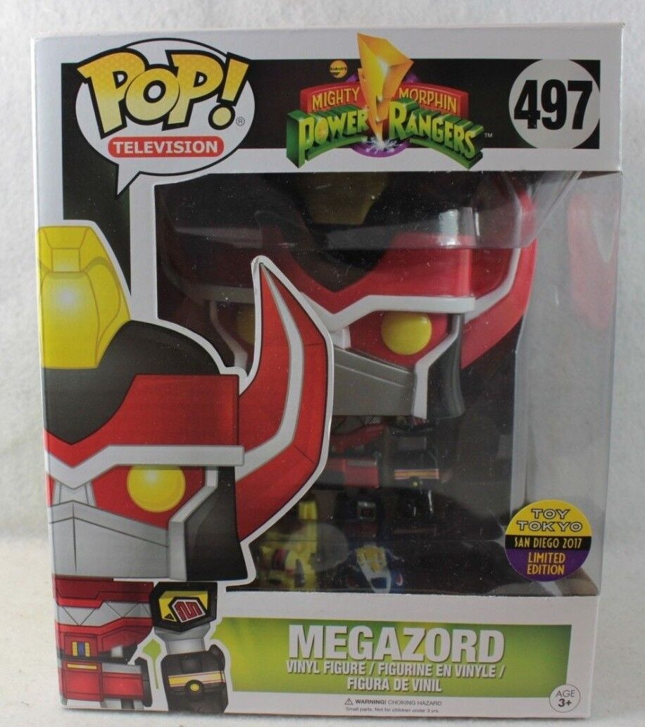Funko Pop MEGAZORD SDCC SDCC SDCC 2017 Exclusive Deluxe Vinyl Figure 497 Power Rangers 0106e1