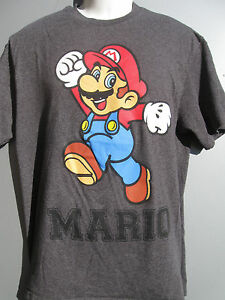 58e1629c5 Nintendo Super Mario Brothers charcoal gray T-shirt Adult size Large ...