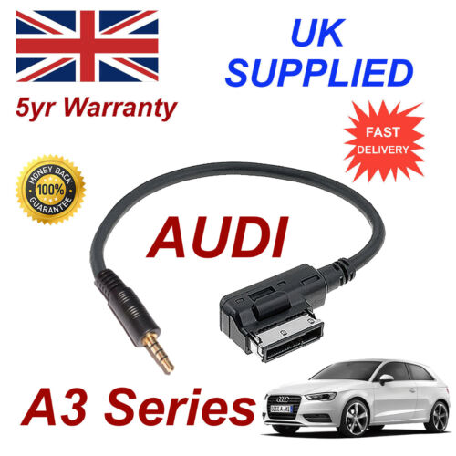AUDI A3 Series AMI MMI 4F0051510F Music Interface 3.5mm Jack input Cable
