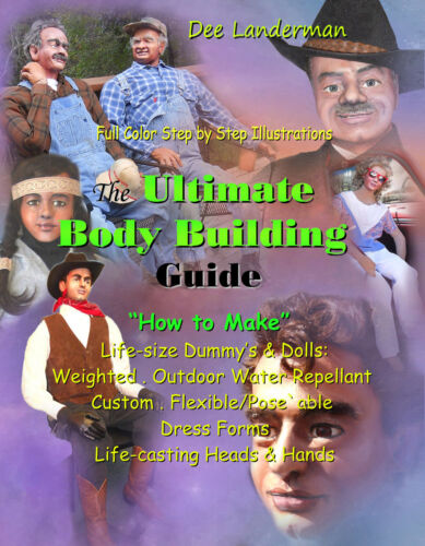 Make Life-Size Dummy,DOLL,Adult,Male,Female,Head,Full-Color Illustrated BOOK USA