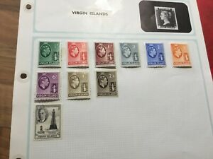 GEORGE-V1-VIRGIN-ISLAND-STAMPS-SG-118-119-Hinged-mint-b-REDUCED