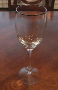 """LENOX CRYSTAL ENCORE GOLD PATTERN WATER GOBLET GLASS 8 5//8/"""" EXCELLENT!! S"""