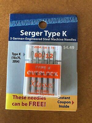 2054 // 16 x 75 Klasse Overlocker Needles Type K