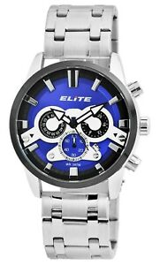 Elite-Herrenuhr-Blau-Schwarz-Chronograph-Datum-Analog-Armbanduhr-X-2800063-001