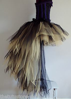 Burlesque Peacock Bustle Tutu Skirt XS S M L XL Sexy Halloween Steampunk Cosplay