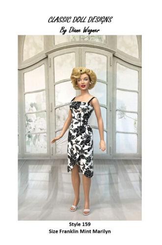 SEWING PATTERN-Style 159 Film Inspired Dress Franklin Mint Marilyn Monroe