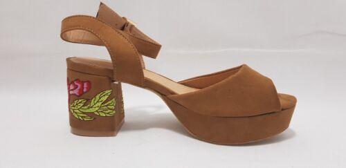 Sole Diva UK 7 EEE Wide Fit Sandal Heeled with Floral Design