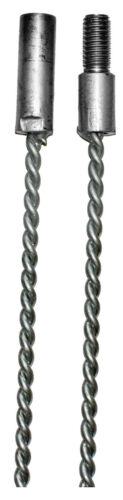 "CFC013 2 cm dia; 8 Gauge 900mm wire rod with 1//2/"" Whitworth screw fittings; Galv"