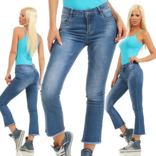 11076 cool Jeans Donna Pantaloni Regular-fit jeans da donna lungo alla caviglia tronchetti TUBO