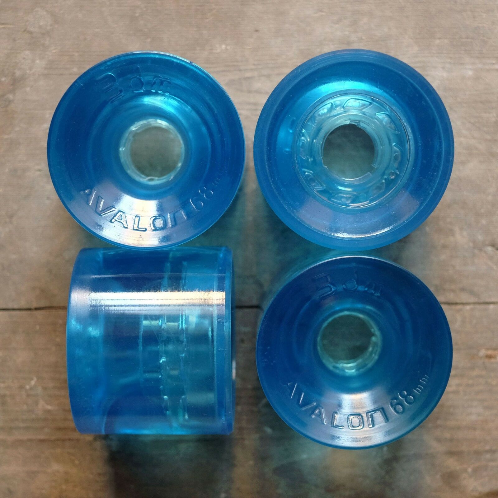 Seismic 3DM Avalon Longboard Slalom Wheels - 68mm 80a (bluee)