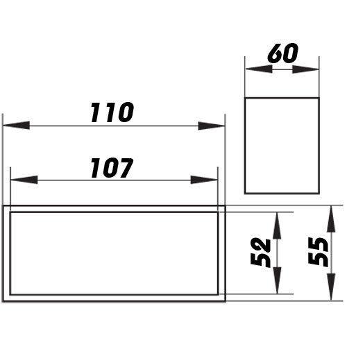 Bindeglied zur Komponentenverbindung 5153 110 mm x 55 mm Lüftungskanal