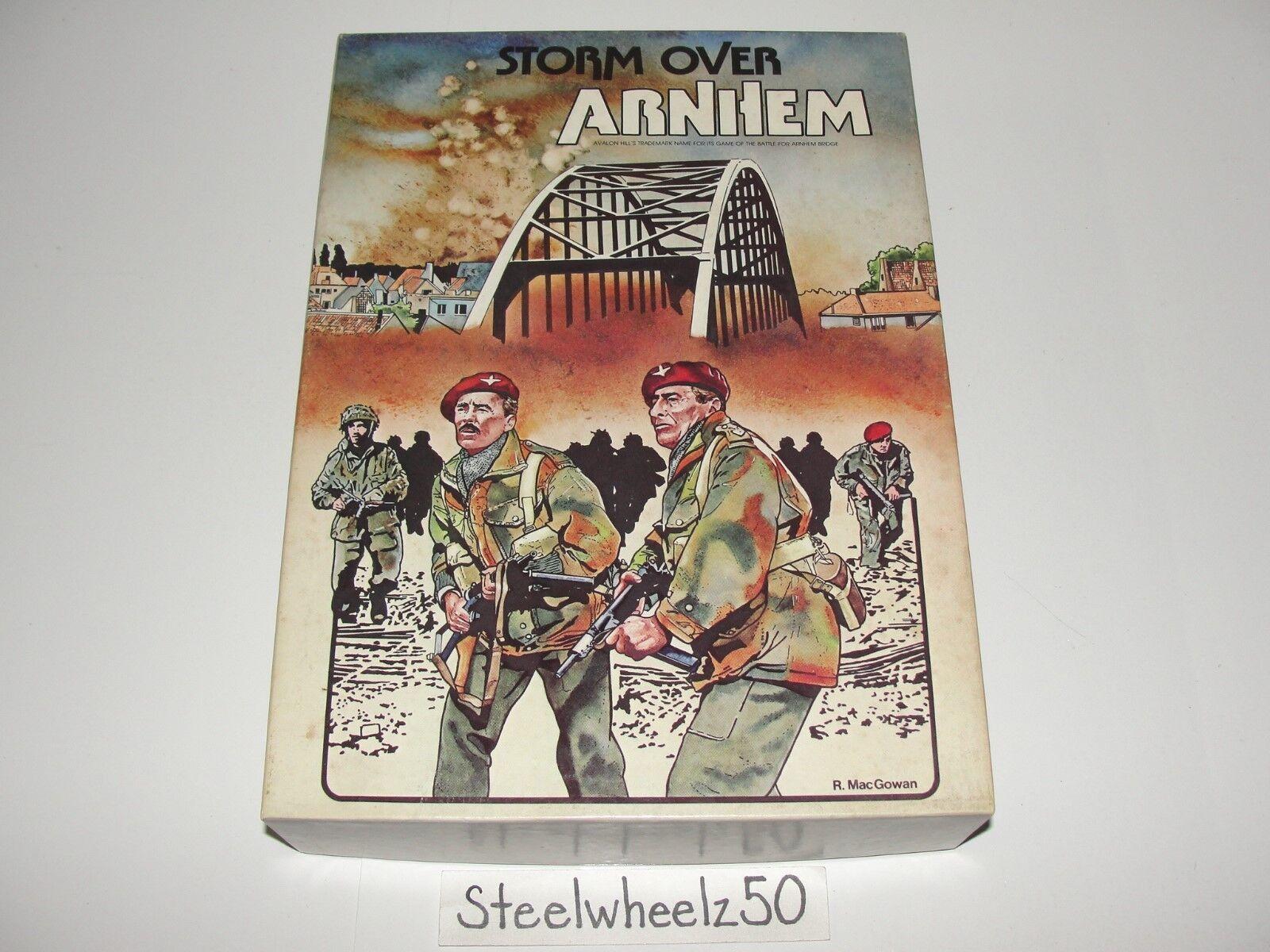 Storm Over  Arnhem Strategy gioco Avalon Hill 1981 librocase Battle For Bridge RARE  prezzi più bassi