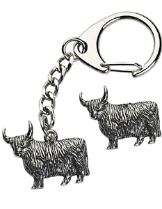 Highland-Cow-Key-ring-And-Pin-Badge-Boxed-Gift-Set-Handcrafted-In-Pewter