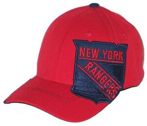 9900f8fd004 NEW YORK RANGERS NY NHL HOCKEY RED IMPRESSION FLEX FIT FITTED HAT ...