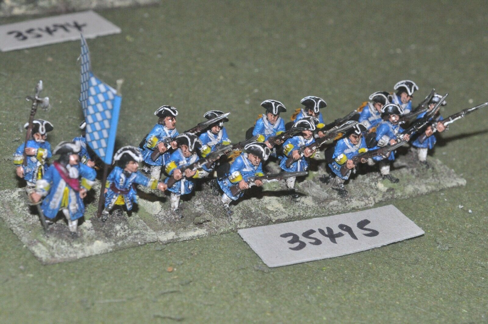 25mm marlburian   bavarian - regiment 16 figures - inf (35495)