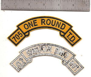 Details about #344 US ARMY 705 TANK DESTROYER TAB ONE ROUND PATCH