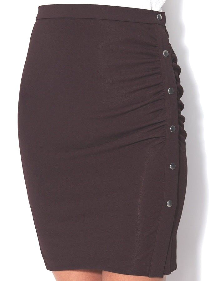 New WOLFORD JERSEY DE LUXE Bodycon SKIRT, Eur 40, Col 4679 Java Brown
