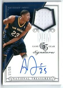 Details About Anthony Davis 14 Panini National Treasures Autograph Auto Jersey Card 11 35