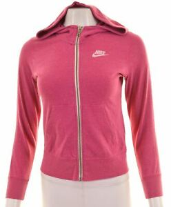 Nike-Femme-Sweat-a-Capuche-Pull-Taille-16-large-en-coton-rose-GT04