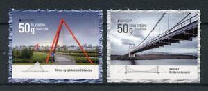 Iceland Architecture Stamps 2018 MNH Bridges Europa Tourism 2v S/A Set