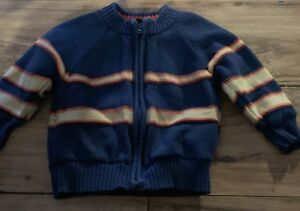 d57382ac1 Baby Gap Boys Sweater Jacket Size 12-18 Months Lined Blue Orange | eBay