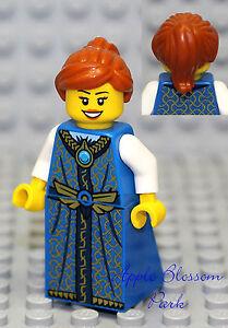 NEW Lego Pirates Orange Hair FEMALE MINIFIG White Blue Dress//Skirt Princess Girl
