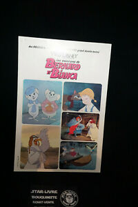 Walt-Disney-Bernard-et-Bianca-Petite-Affiche-Cinema-Vintage-1977