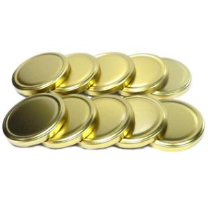 Gläser Deckel Ø 82//6 mm GOLD Deckel Schraubdeckel Eingemachte Gläserdeckel Kappe