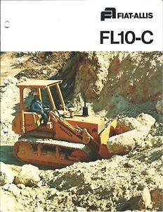 equipment brochure fiat allis fl10 c crawler loader 2 items c1978 e4081 ebay ebay