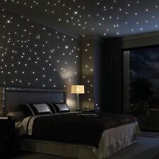 Leuchtpunkte 203 Stück - leuchtend fluoreszierend Sternenhimmel Wandtattoo-Loft