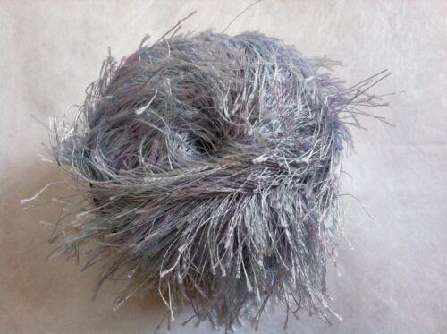 FilatiFF Park Long Eyelash Yarn #36 Pearly Blue /& Lavender 50gr Bulky uses US13